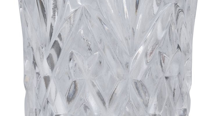 A crystal vase's patterns could indicate its worth.