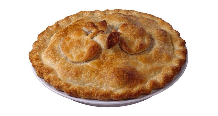Pastel de manzana típico.