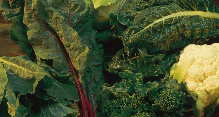 Assorted leafy green vegetables