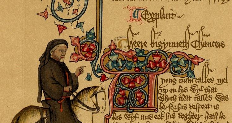 Os monges muitas vezes escreviam os textos medievais