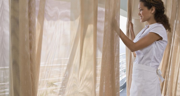 Tiebacks and bows add a decorative flair to curtains and home decore