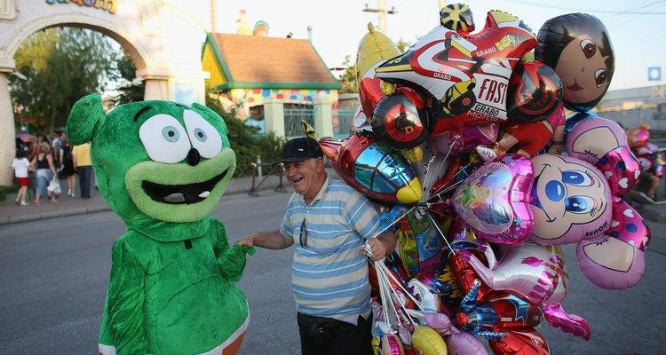 Vendedor de balões de gás Hélio