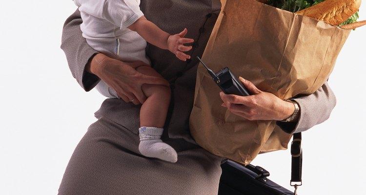 Carregar um bebê pode ser cansativo