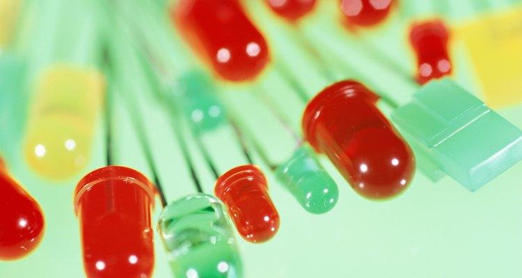 Los LED vienen en una variedad de colores y tamaños.