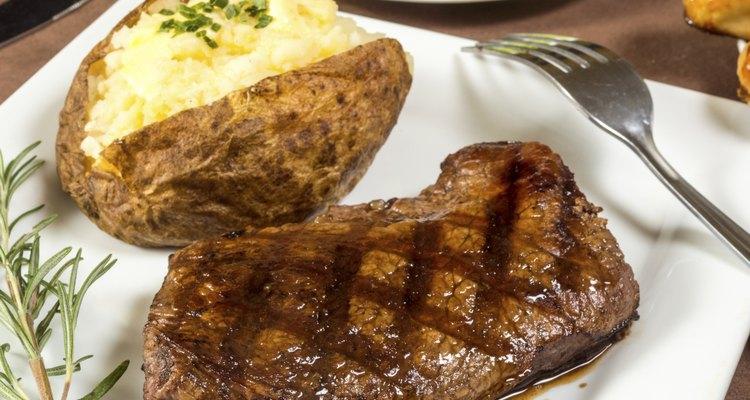 grilled sirloin steak dinner