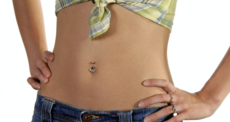 Slim active stomach of model