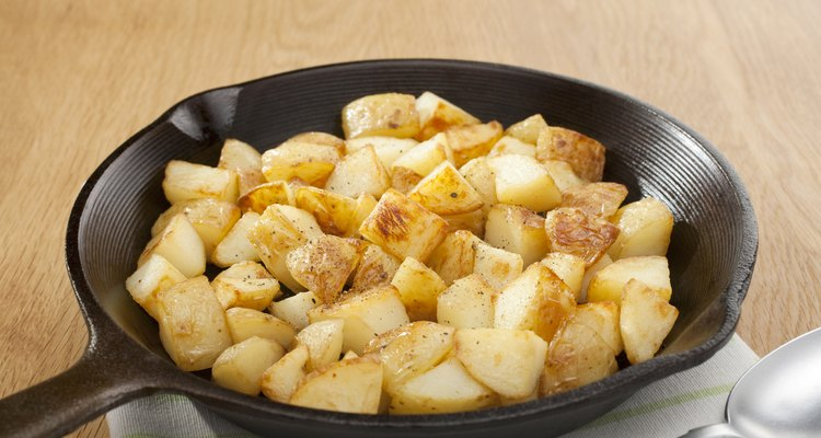 Home Fries or Saute Potatoes in a Skillet Breakfast
