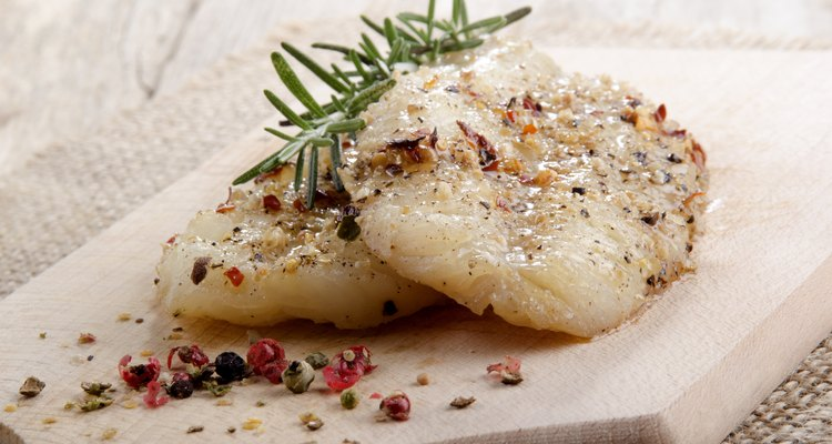 grilled whiting fillet with pepper