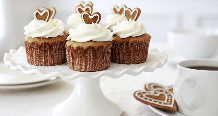 Cupcakes with homemade cream cheese frosting