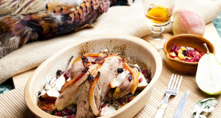 Baked pheasant hot and ready to eat