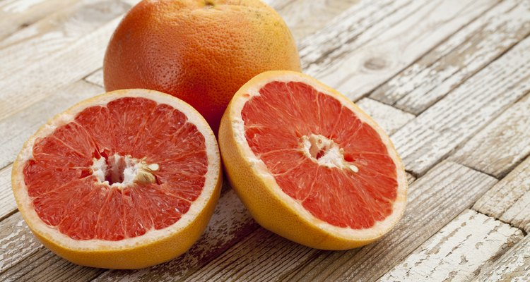 red cut grapefruit