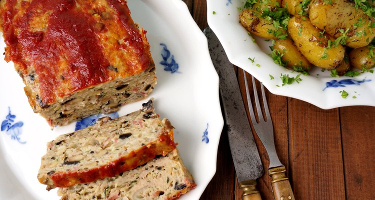 meatloaf with roasted potatoes