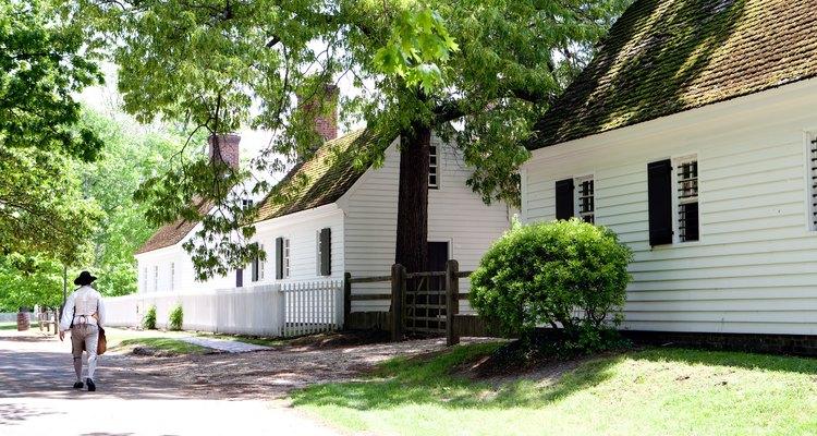 Colonial architecture in Williamsburg, Virginia