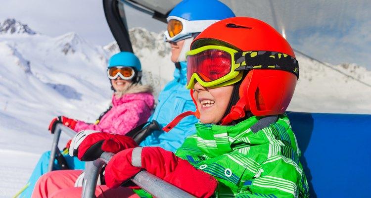 Family skiing, Mount Kato, MN