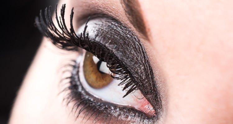 Closeup of eye makeup