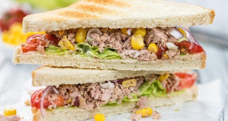 Fresh made Tuna Sandwiches (selective focus)