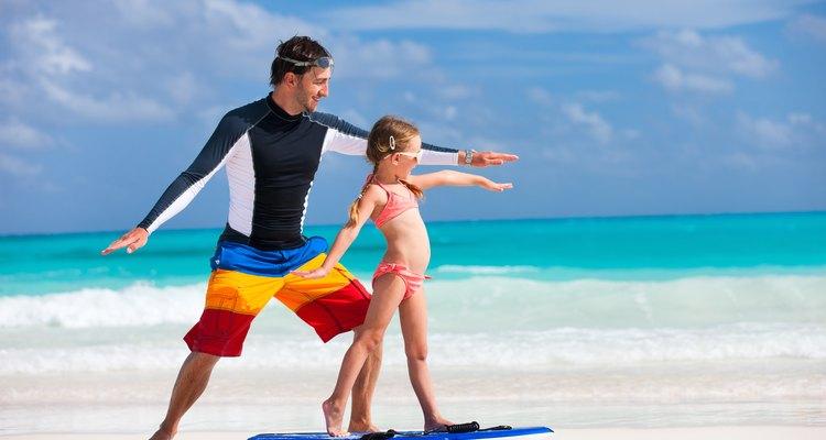 Little girl learning to surf, Neptune Beach, FL