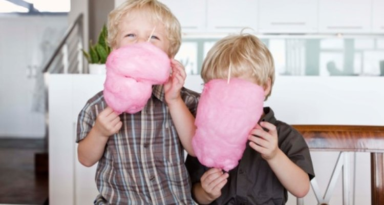 Pink is the most common colour of candyfloss.
