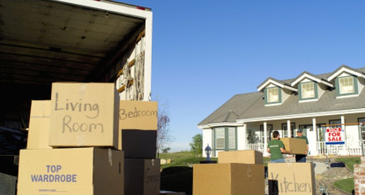 Move in day with boxes