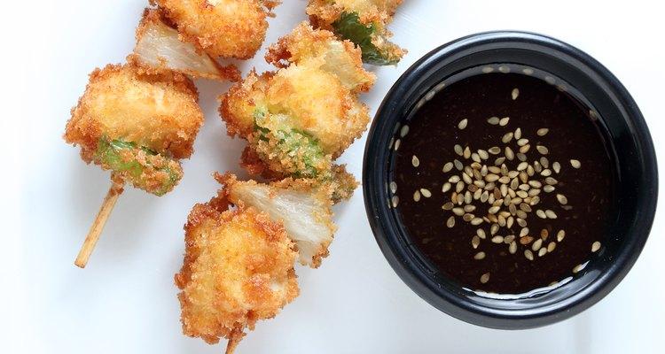 Chicken skewers or Kushi sticks