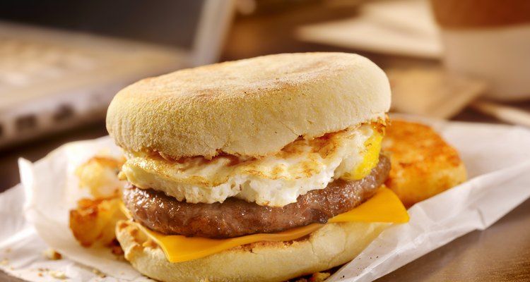 Sausage and Egg Breakfast Sandwich at your Desk