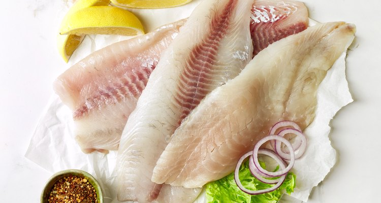 fresh raw fish fillets