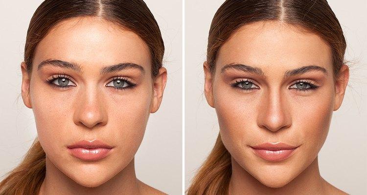 Observa la diferencia luego de aplicar el maquillaje contouring.
