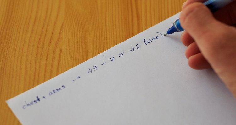 Anote as medidas em um papel