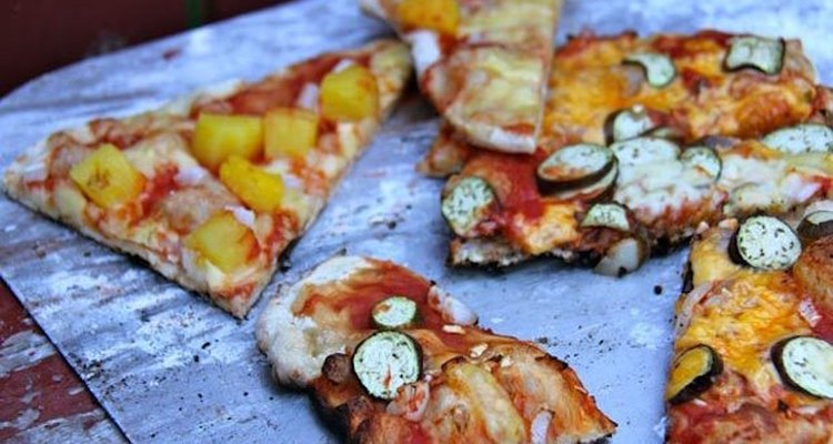 Grilled pizza.
