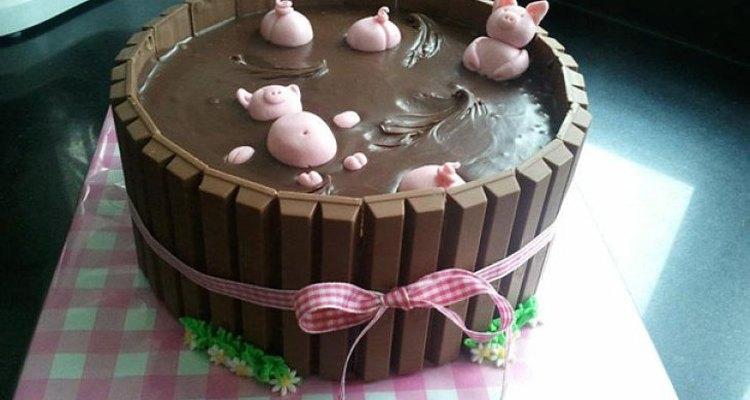 Esta es una deliciosa torta para un cumpleaños infantil.