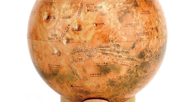 Imagen del globo de Marte para decoración