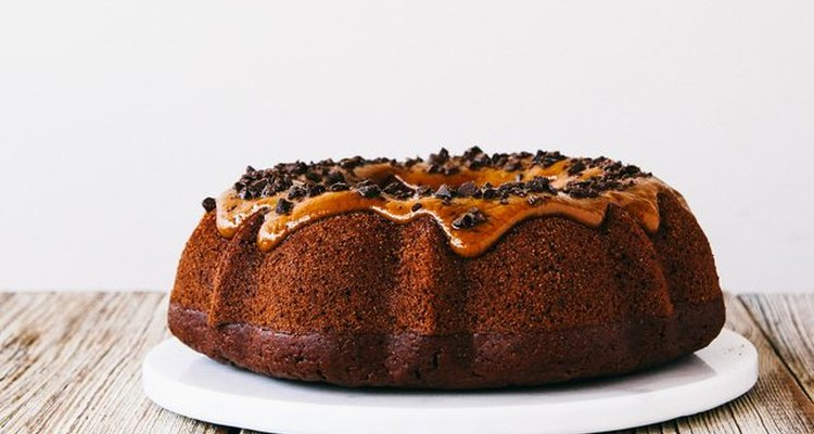Cookie butter and chocolate bundt cake.