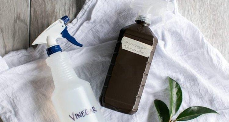Vierte el vinagre en una botella con atomizador.