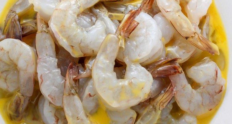 Coat the shrimp in the egg wash.