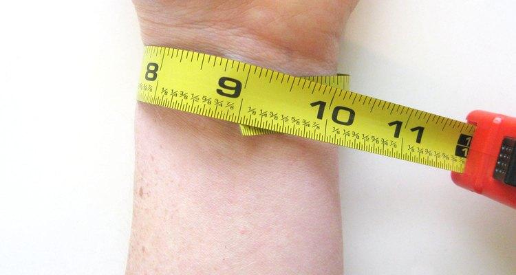 Meça o comprimento da sua pulseira