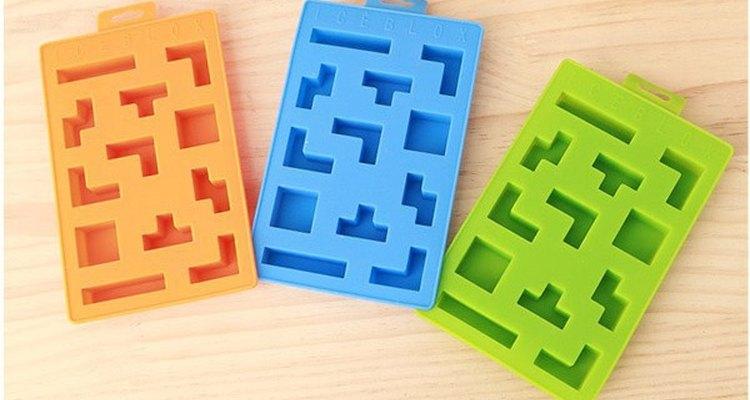 Hieleras con formas de las típicas piezas del Tetris