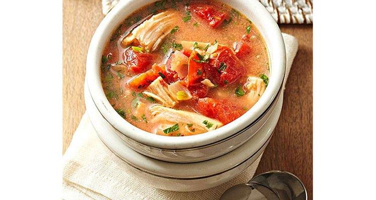 Spicy Brazilian turkey soup
