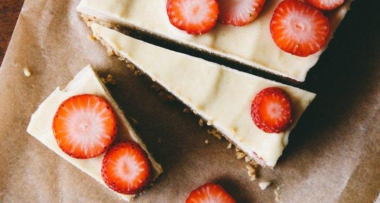 Almost-raw vegan cheesecake.