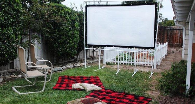 Outdoor movie screen.