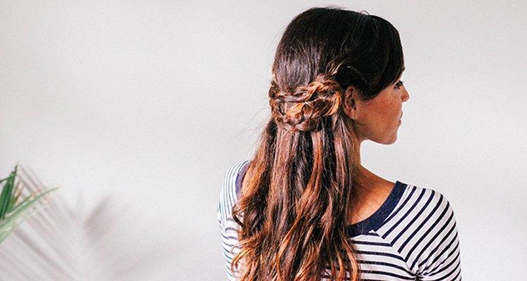 Half crown braid hairstyle