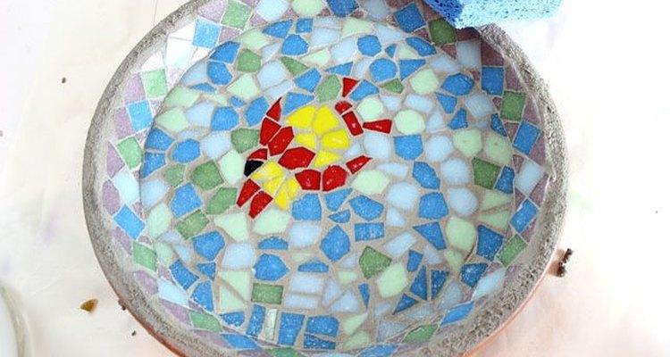 Limpia los mosaicos.