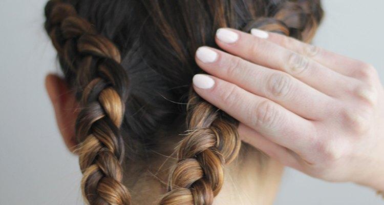 Single braids along each side of the head