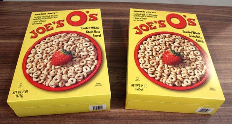 Guarda las cajas de cereal.