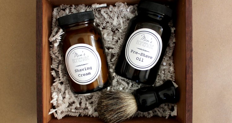 Make a Men's Shave Kit with Homemade Shaving Cream and Pre-Shave Oil!
