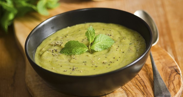Pea soup should have a hearty consistency.