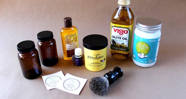 Supplies for Making a DIY Men's Shaving Kit