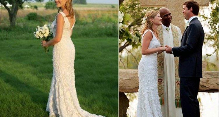 El vestido de Jenna Bush es perfecto para una boda sencilla.
