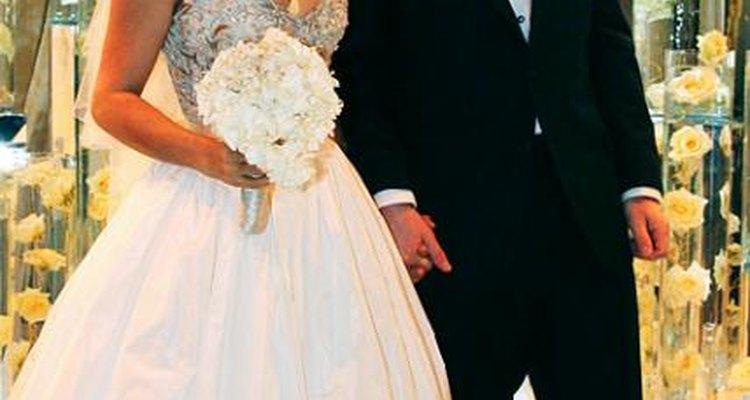 El vestido de Salma Hayek es digno de una boda de ensueño.