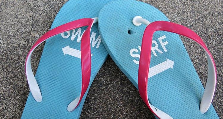 Quick fix for broken thong sandals.