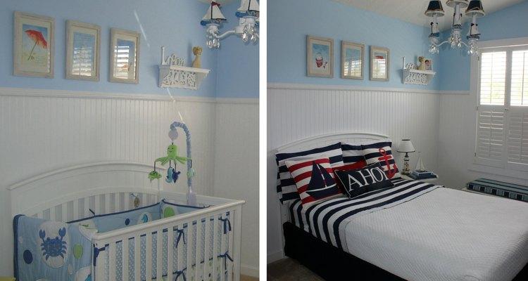 Puedes actualizar rápidamente la habitación cambiando la cuna del bebé por la cama del pequeño.